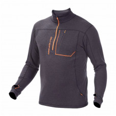Alaska Merino Half-Zip 280G - Sort / Orange