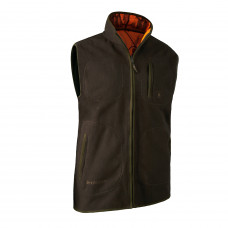 Gamekeeper Bonded Fleece Vest - Orange GH Camo