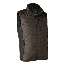Moor vatteret vest med strik - Brown Leaf