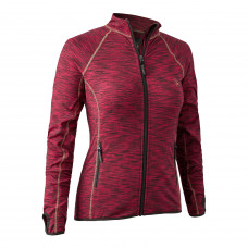 Lady Insulated Fleece - Red Melange Jagt beklædning