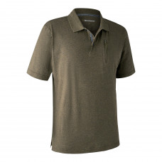 Larch Poloshirt - Green melange