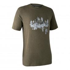Ceder T-shirt - Green melange