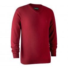 Kingston Striktrøje med V-hals - Red