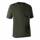 T-shirt med hjort - Bark Green
