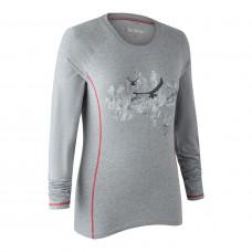 Lady Hazel T-shirt med lange ærmer - Greyhound melange