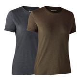 Ladies Basic 2-pack T-shirt New