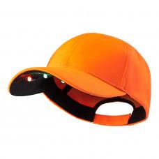 Kasket med LED lys - Orange