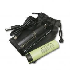 Oplader og ekstra batteri til PARD