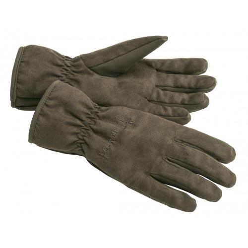 Extreme suede padded handsker - Suede Brown/Dark Olive