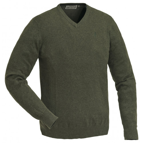Finnveden V-neck Sweater - Green Melange