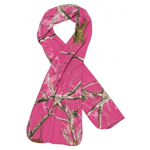 Camou Microfleece scarf - Realtree AP Hot Pink HD