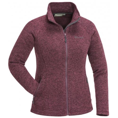 Gabriella strikket jakke til kvinder - Plum Melange