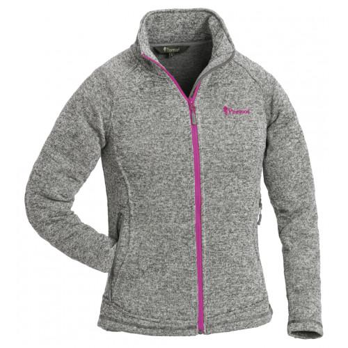 Gabriella strikket jakke til kvinder - Grey Melange/Pink