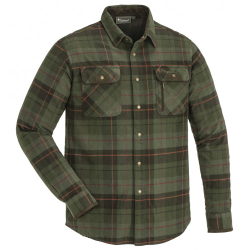 Prestwick Exclusive Skjorte - Green/Terracotta