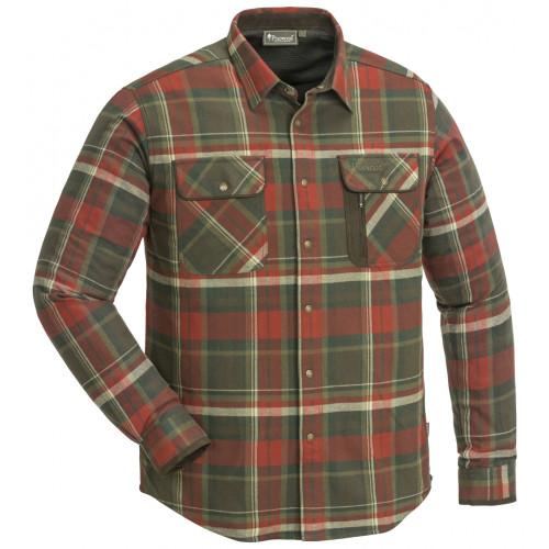 Cornwall Flannel Skjorte - Dark Copper/Suede Brown