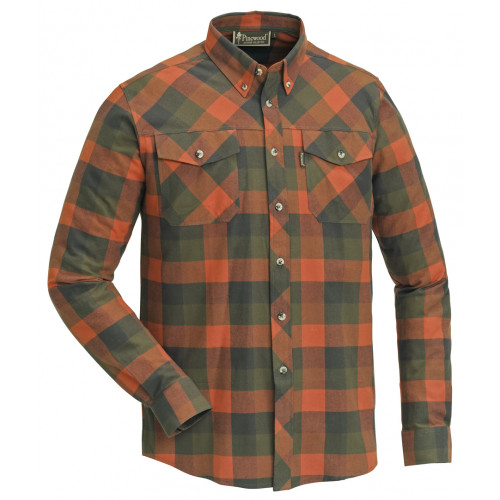 Lumberjack Skjorte - Terracotta/Green Jagttøj