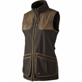 Winster Lady softshell vest - Black coff..