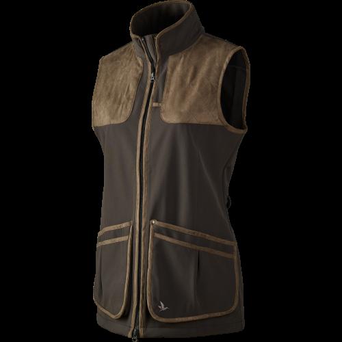 Winster Lady softshell vest - Black coffee