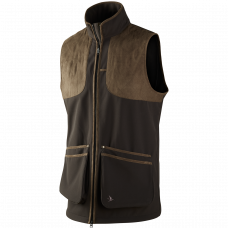 Winster softshell vest - Black coffee