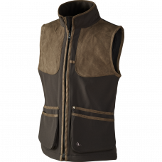 Winster softshell Kids vest - Black coff..