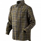Edwin Kids skjorte - Shaded olive check