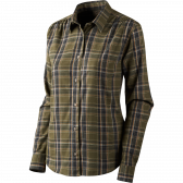Vicka Lady skjorte - Shaded olive check