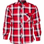 Moscus skjorte - Chili red check