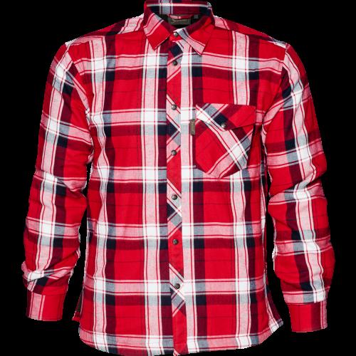 Moscus skjorte - Chili red check