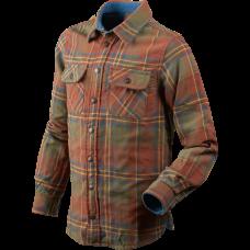 Nolan Kids skjorte - Sequoia rust check