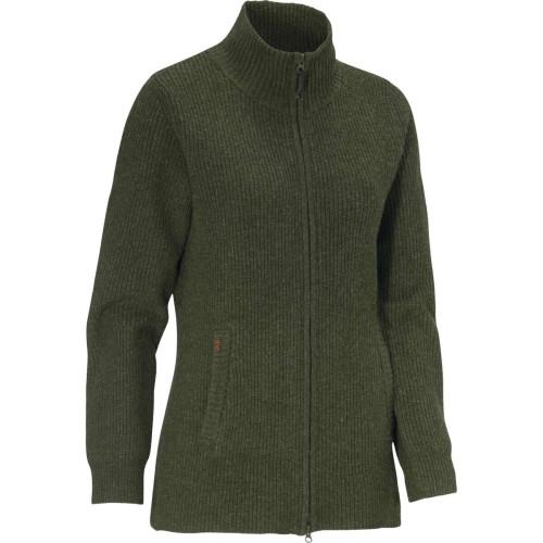 Shirley W Sweater Full-zip Loden Green Jagttøj