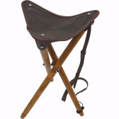 Klassisk Jagtstol  3-Benet I Læder
