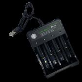 USB  oplader til batterier