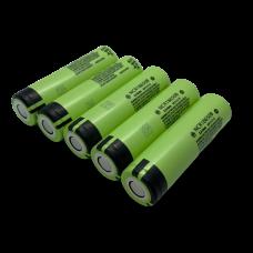 5-paks Kvalitets genopladeligt 18650 batteri fra Panasonic