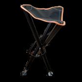 Foldbar jagtstol med lædersæde – Orange..