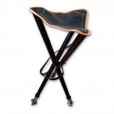 Foldbar jagtstol med lædersæde – Orange kant