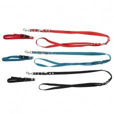 Chrisco Hundehalsbånd med snaplås og line i nylon, 25-40 cm/220 cm Jagthunden