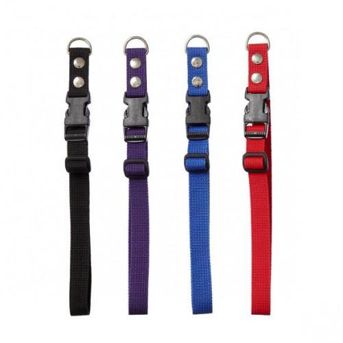 Hundehalsbånd med snaplås (clickspænde) i nylon, 35-60 cm