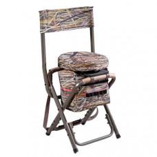 Rygsæk stol med drejbart sæde og taske